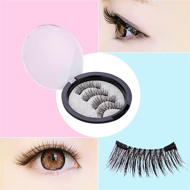 c8a9605f54b 4Pcs/set 3D Double Magnetic False Eyelashes Natural No Glue Reusable Fake  Eye Lashes Extension Handmade Eye Beauty Makeup Tool38