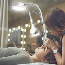 Kreative 2 in 1 Clip Tisch Lampe Design USB Einstellbare Kalten Weiß Schreibtisch Licht für Augenbraue Tattoo Nail art Schönheit make up Angeln