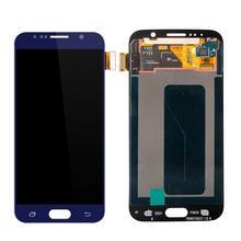 20 PCS/Lot LCD Display 100% Diuji Untuk Samsung Galaxy S6 G920 G920F G920A LCD Display Sentuh Digitizer Layar Majelis Penggantian
