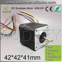 42BLS01 24v 26w 4000rpm brushless dc motor for DIY 42*42*41mm 5mm round shaft 3 phase 0.3A bldc motor