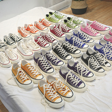 Classic Canvas Shoes Low/High Top Sneakers Lace-up Casual Fl