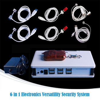 6 in 1 Multi Port wireless anti theft alarm security system devices for Mobile phone/Tablet/IPad