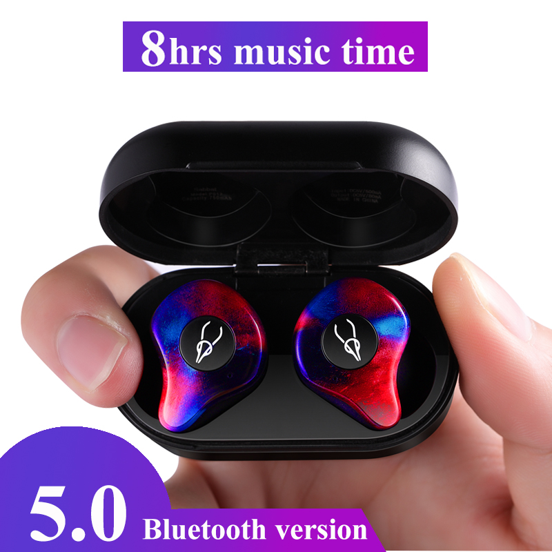 Professional Twins Mini 3D Stereo Sound Bluetooth Earphone Invisible True Wireless Waterproof Sport Earbuds with Power
