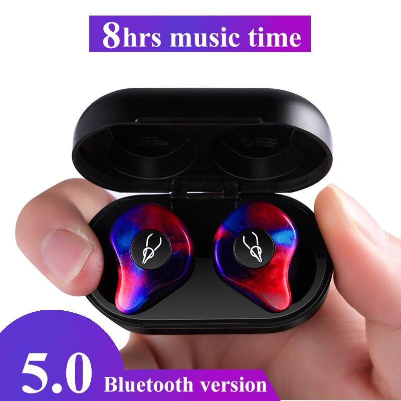 Écouteurs professionnels Mini 3D stéréo Bluetooth écouteurs invisibles vrai sans fil étanche Sport écouteurs avec batterie externe