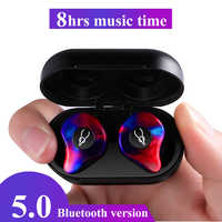 Professional Twins Mini 3D Stereo Sound Bluetooth Earphone Invisible True Wireless Waterproof Sport Earbuds with Power bank