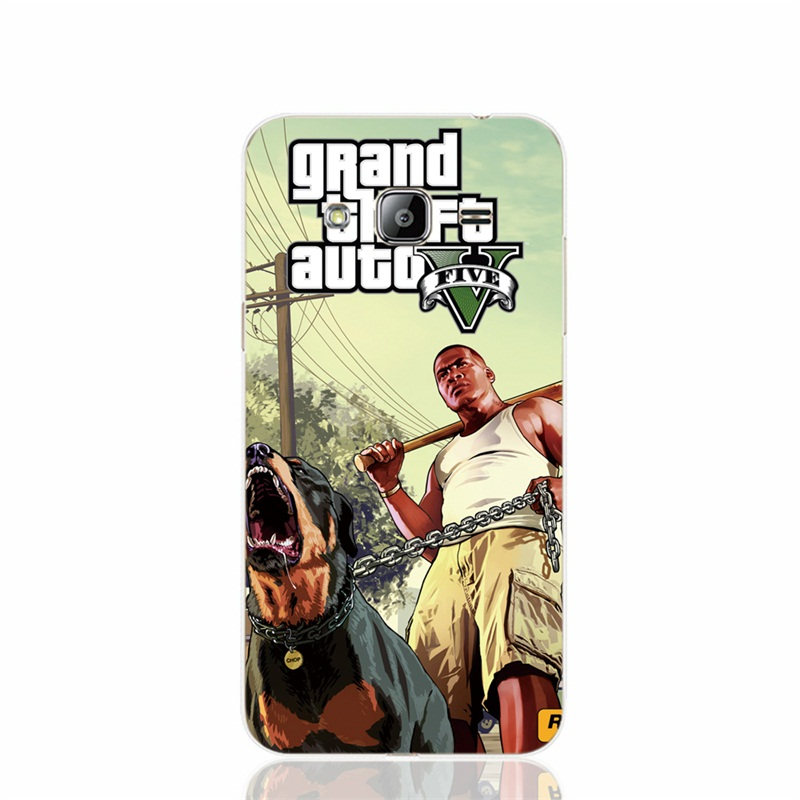 22691 GTA V 5 Franklin and Chop cover phone case for Samsung Galaxy J1 J2 J3 J5 J7 MINI ACE 2016 2015 ON5 ON7