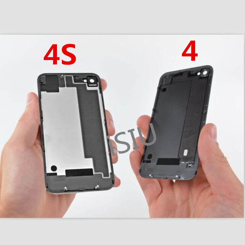 brand new fa30a 154e4 US $2.29  100% Tested Back Cover For iPhone 4S Mobile Phone Metal Cover  Housing for iPhone 4 iP4S Rear Case IP4 Replacement White Black-in Mobile  ...