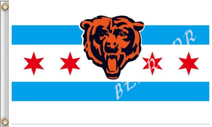 NFL Chicago Bears Pennant 3X5FT bandeira decorativa banner personalizado  bandeira 100D Impressão Digital 8471715892ea5