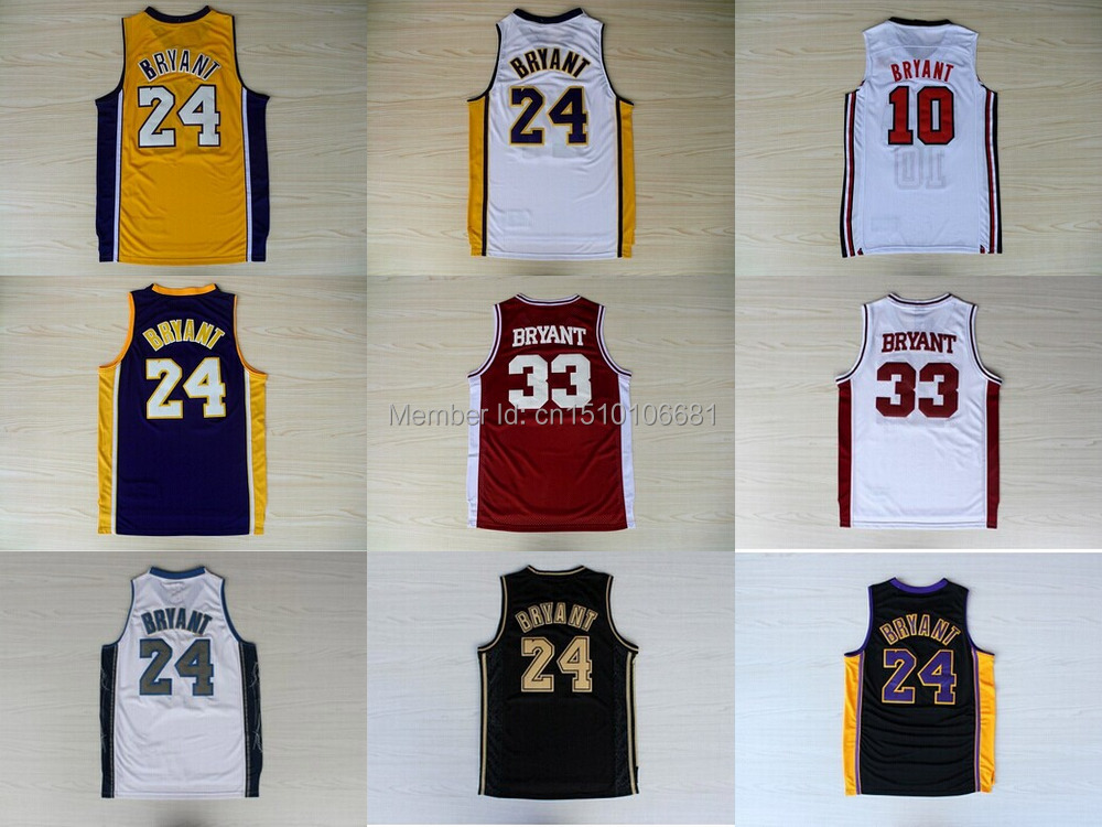 0784fb6f4 ... Free shipping 8 Kobe 24 Kobe Bryant Jersey throwback 33 Bryant High  School USA dream team ...