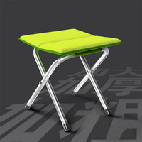 SUFEILE 1PC High quality Portable Outdoor Folding Fishing Chair Folding Outdoor Camping Folding Stainless Steel Chair D20