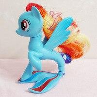 1 Pcs 14cm 88g Cute Lovely Tomy Horse Unicorn Princess Rainbow Dash Toy Dolls For Christmas