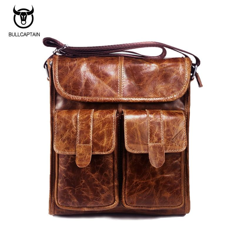 Aliexpress.com : Buy BULLCAPTAIN Brand Design Men Bags Genuine ...