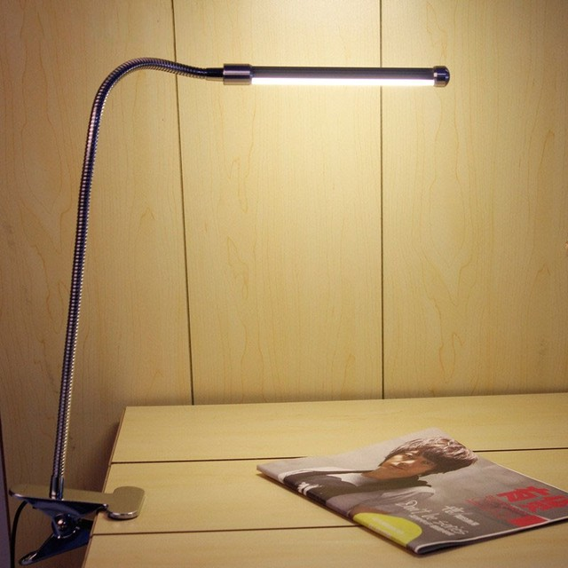 USB Mesa de Luz de Leitura Flexível LEVOU Clip-on Mesa Ao Lado Da Cama lâmpada livro decoração estudo trabalho lâmpada recarregável com us ue plugue