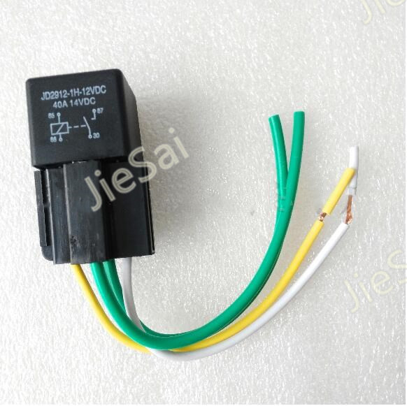 4 Pin 12V/24V 40A Automotive relay Auto Relay and Socket with 4 Wire high quality 4 pin automobile relay 12v 40a with plug and 12cm wire harness automobile modification car relay waterproof