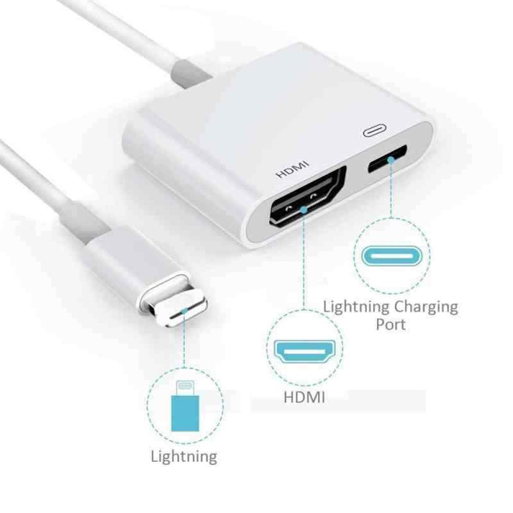 for Lightning to <font><b>HDMI</b></font> <font><b>adapter</b></font> cable digital <font><b>AV</b></font> TV for iPhone 6 7 8 Plus X XS XR for Ipad image