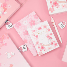 Sakura Hardcover Cute Janpanese Style Notebook DIY Planner Diary Note Book Office and School Supplies caderno недорого