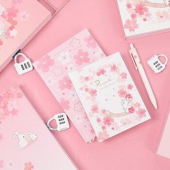 цена Sakura Hardcover Cute Janpanese Style Notebook DIY Planner Diary Note Book Office and School Supplies caderno онлайн в 2017 году