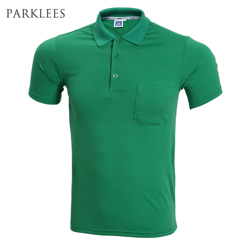 Fashion Green   Polo   Shirt Men   Polo   Homme 2016 Summer Style Short Sleeve Solid Color   Polo   Shirts Brand Mens   Polos   3XL