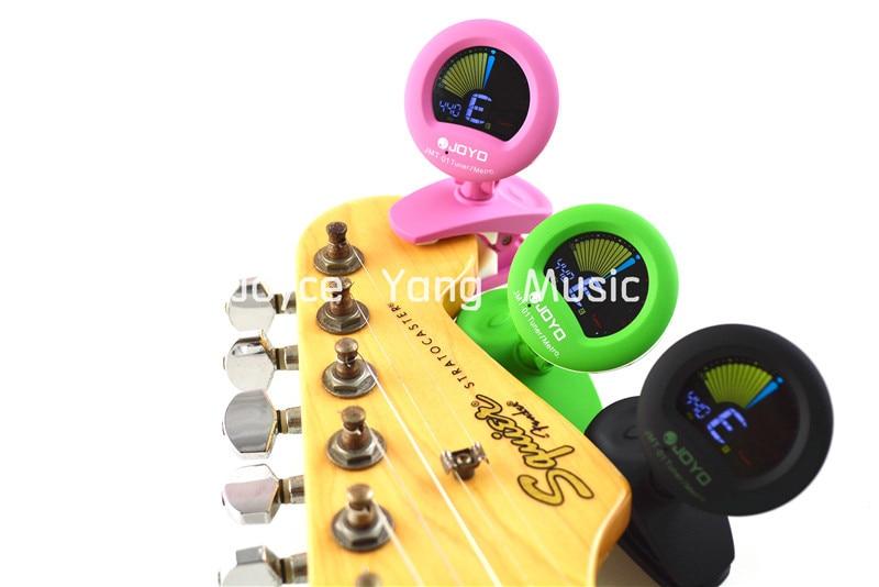 JOYO JMT-01 Round Color LCD Display Clip on Guitar Bass Tuner&Metronome 3 Color Free Shipping joyo jmt 550 lcd screen digital guitar