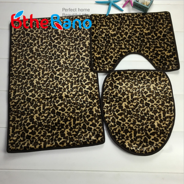 3 Pieces Set Leopard Printed Bath Mats Non Slip Bathroom Carpet And Toliet Rugs Water Absorption Mat 6 Designs In From Home