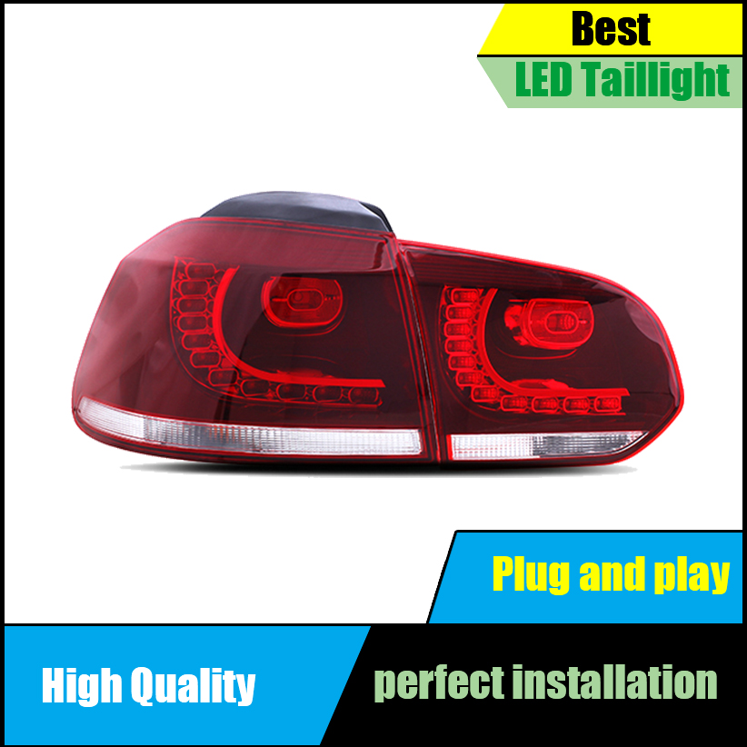 Car Styling For Volkswagen GOLF 6 MK6 R20 2009 2013 Dynamic Turn Signal TAIL Lights LED Taillight LED Rear Lamp Car assembly in Car Light Assembly from Automobiles Motorcycles