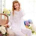 Algodão Longo-Sleeved Mulheres Pijamas Outono Treino Ocasional Terno Cor Pura Doce Bonito Pijama Define Feminino Princesa Sleepwear
