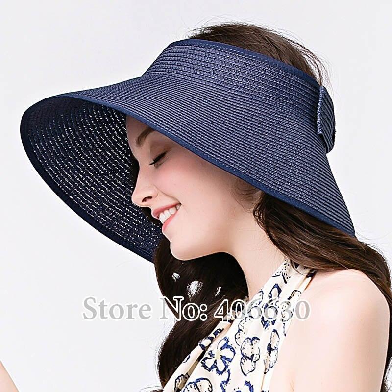 Bekleidung Zubehör 100% QualitäT Mode Mädchen Breiter Krempe Strand Sun Visor Faltbare Roll Up Striped Stroh Hut Kappe A1 Kopfbedeckungen Für Damen