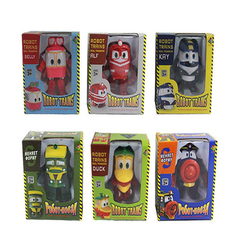 NIEUWE 6 Soorten 13.5cm Robot Treinen Transformatie Kay Trein Vervorming Trein Auto Action Figure Speelgoed speelgoed voor kinderen Trein auto