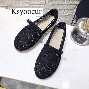 Image 3 - Brand Ksyoocur 2020 New Ladies Flat Shoes Casual Women Shoes Comfortable Round Toe Flat Shoes Spring/summer Women Shoes X01