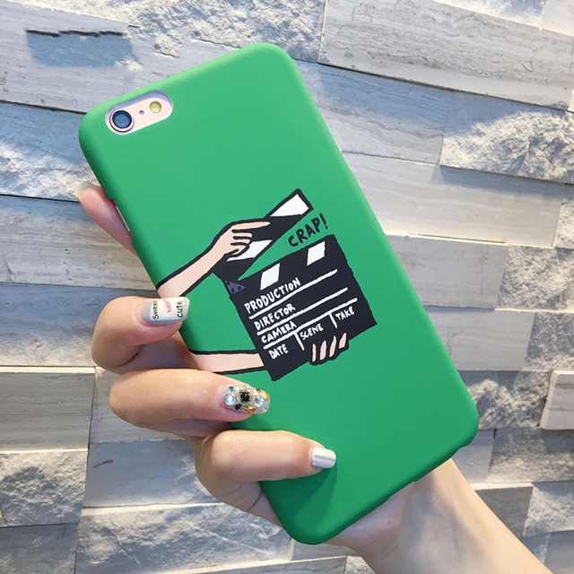 Clapperboard Pattern For iPhone 5 5S SE 6 6S Plus Phone Bags & Cases Soft Scrub Hard Phone Back Covers YC1944