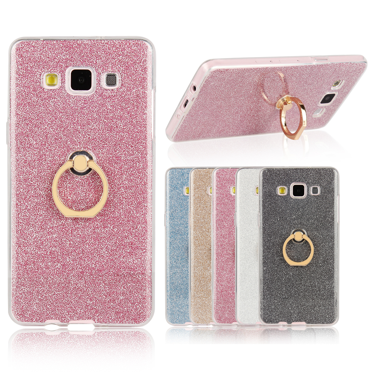 Case for Samsung Galaxy A5 a 5 Flash powder TPU Case for Samsung A 5 2015 A500F A500FU A500M/Y/YZ/FQ/F1/K/S Finger buckle Phone