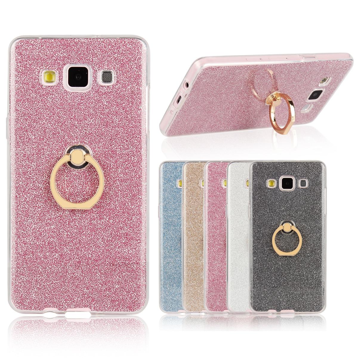 Case for Samsung Galaxy A5 a 5 Flash powder TPU Case for Samsung A 5 2015 A500F A500FU A500M/Y/YZ/FQ/F1/K/S Finger buckle Phone