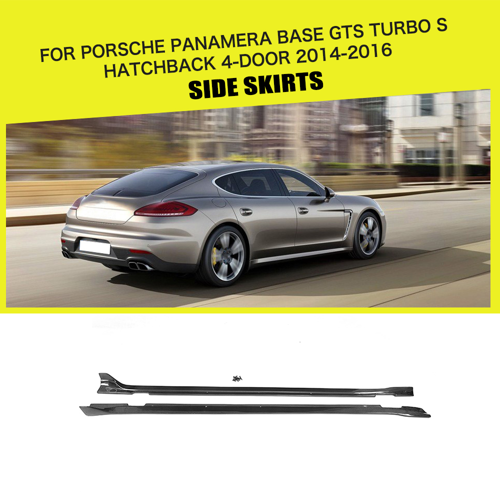 4x carbon fiber Car Door Lock Protection  Cover Trim For Porsche Macan 2015-2019