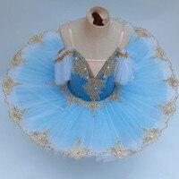 2019 Ballet Tutu For Girls Kids Child Professional Ballet Tutu Swan Lake Costumes Ballerina Blue White Balett Dress Adult Women