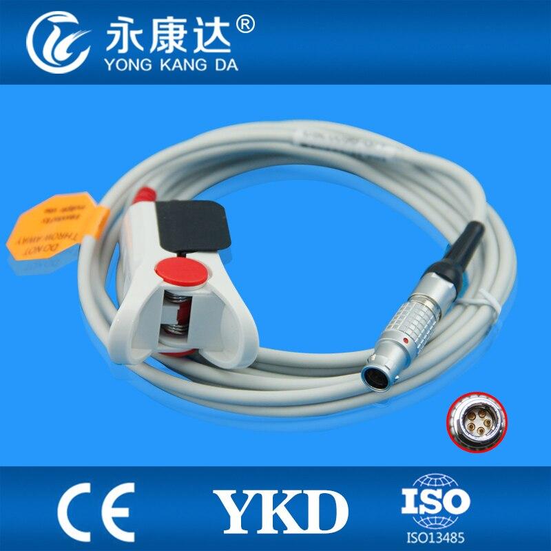 Compatible Goldway  adult  finger clip SpO2 Sensor 3m,5pinCompatible Goldway  adult  finger clip SpO2 Sensor 3m,5pin