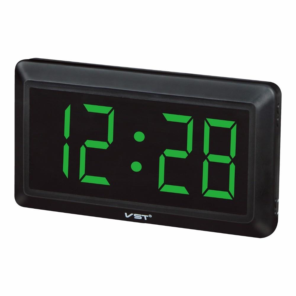 13 inch led digital wall clock with eu plug desktop clock - Wanduhr digital groay ...