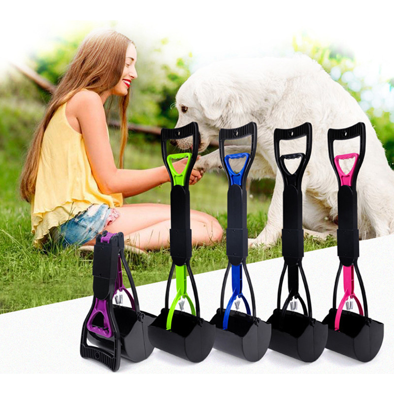 Pet Pooper Scooper Long Handle Jaw Poop Scoop Clean Pick Up Animal Waste Dog Puppy Cat Waste Picker Cleaning Tools