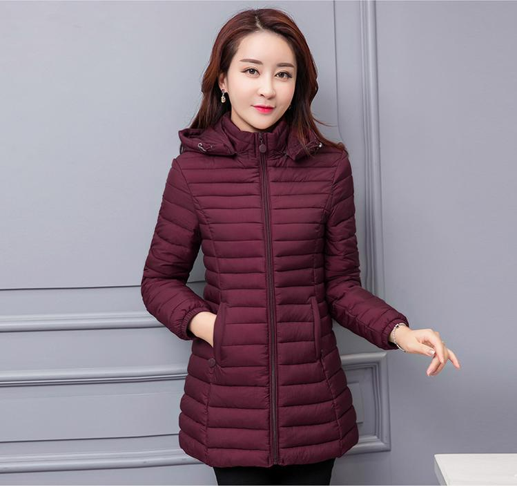 Free Delivery 2017 Women's Cotton Jacket Women In The Long Section Of Slim Cotton Coat Large Size Cotton Jacket applications of dendrimers in drug delivery
