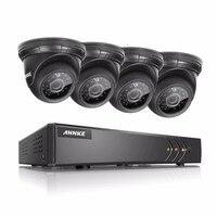 ANNKE 4CH CCTV Security System 4PCS 720P Weatherproof Night Vision IR Cut CCTV Cameras Video Surveillance