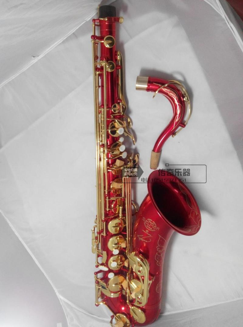 Free shipping EMS Genuine France Selmer Tenor Saxophone R54 Professional B Red Sax mouthpiece With Case and Accessories #9 bb f tenor trombone lacquer brass body with plastic case and mouthpiece musical instruments