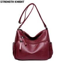 Ladies Leather Handbags Designer Luxury Bags For Women 2019 Women Messenger Shoulder Bag Top-handle Bags Flap Sac A Main Femme