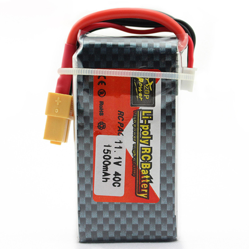 1pc <font><b>3s</b></font> 11.1v <font><b>1500mAh</b></font> <font><b>LiPo</b></font> Battery 11.1v Rechargeable <font><b>Lipo</b></font> Batteries For RC Car Airplane Helicopter <font><b>3s</b></font> battery 11.1v 40c max <font><b>60C</b></font> image