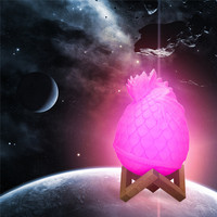 LED Moon Light Colorful Table Lamp 3D Printed Dragon Egg Night Light Room Decor Color Remote control lights #4M31