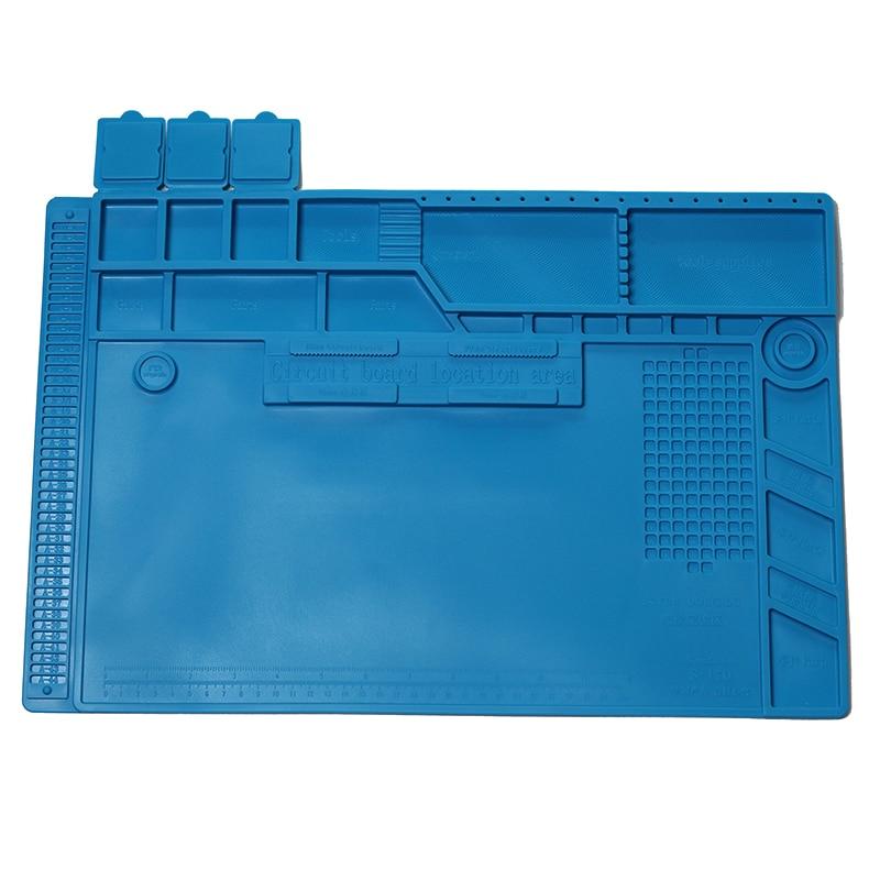 BGA Heat Insulation Silicone Soldering Pad Mat Desk Maintenance Platform  Repair Tools S-170 S-160 S-150 S-140 S-130 S-120 S-110(China)