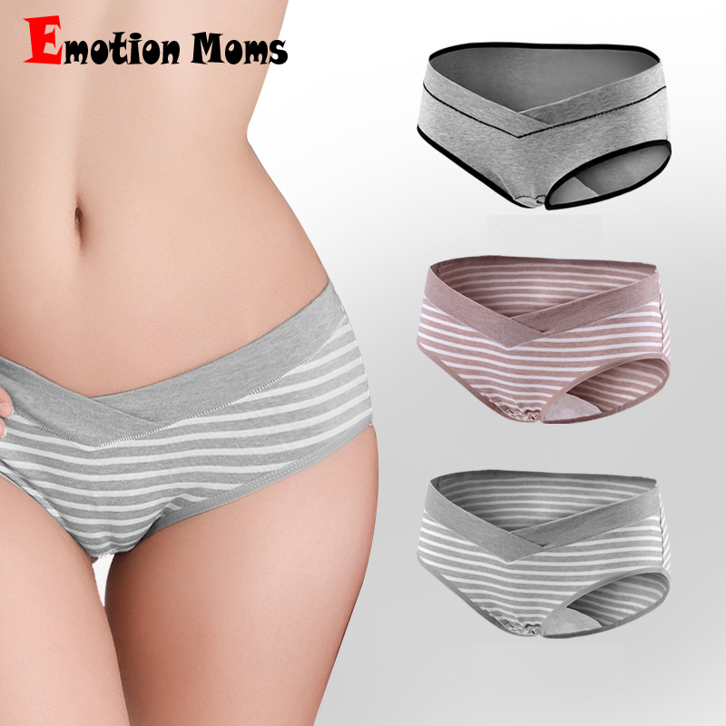 5ea359c32526 (3 unids/lote) nuevo mujeres embarazadas ropa interior de algodón de  cintura baja escritos en forma de U-maternidad ropa embarazada calzoncillos  ropa M-XXL