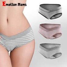 (3PCS/Lot) NEW Pregnant Women Underwear Cotton Panties Low-waist Briefs U-shaped Maternity Clothes M-XXL
