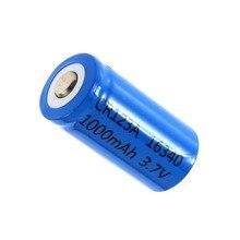 Em Estoque! 2 PCS Mais Novo 3.7 V 1000 MAH Cr123a 16340 Li-ion Bateria Recarregável