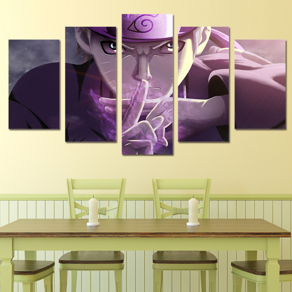5 Pcs/Set Framed HD Printed Naruto Ninjutsu Movie Wall Art Canvas ...