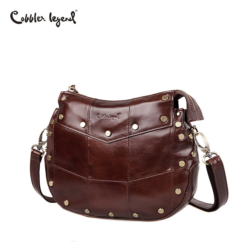 Cobbler Legend Brand Genuine Cow Leather Shoulder Bags Cross body Women's Shoulder Bags