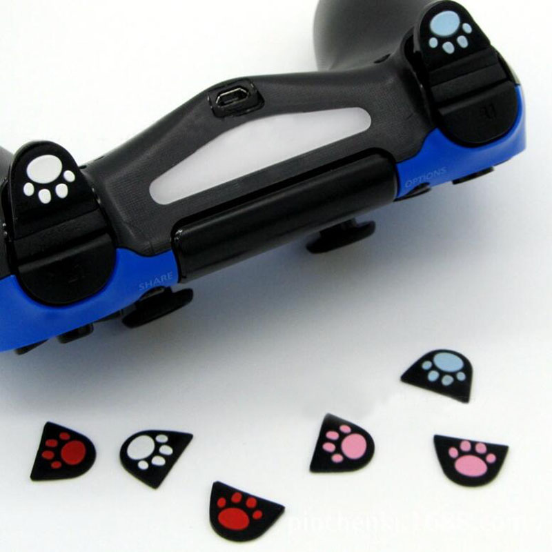 Silicone Cat Paw L2 R2 Trigger Buttons Sticker Cover Case For Sony Playstation Dualshock 4 DS4 PS4 Pro Slim Controller Gamepad